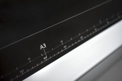 Ruller de papel europeo del formato A3 Fotografía de archivo libre de regalías