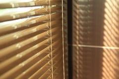 Rullgardiner i hem med solljus Royaltyfria Bilder