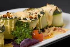 Rulli cucinati dello zucchino Fotografia Stock Libera da Diritti