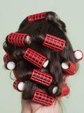 Rulli dei capelli Fotografia Stock Libera da Diritti