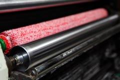 Rulli dell'inchiostro sulla macchina ' offset ' Fotografie Stock