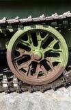Rulli di Caterpillar del carro armato Fotografie Stock Libere da Diritti
