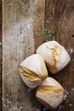 Rulli di pane crostosi freschi Fotografia Stock Libera da Diritti