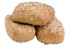 Rulli di pane interi freschi immagine stock