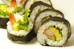Rulli di sushi giapponesi Immagini Stock Libere da Diritti