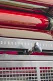 Rulli rossi della macchina da stampa offset del negozio di stampa, fine su Immagine Stock Libera da Diritti