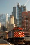 Rullning till och med Chicago Arkivbild