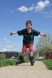 Rullo-Aletta del ragazzo fotografie stock libere da diritti