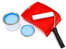 Rullo, cassetto e colore blu fotografia stock