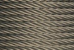 Rullo d'acciaio del cavo fotografie stock