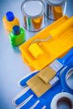 Rullo dei pennelli dei guanti protettivi dei nastri di condotta Fotografia Stock