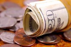 Rullo dei soldi Immagini Stock Libere da Diritti