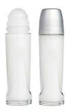 Rullo del deodorante sui tubi isolati su bianco Immagini Stock Libere da Diritti