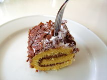 Rullo del dessert del cioccolato Immagine Stock Libera da Diritti