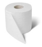 Rullo del documento del wc della toletta immagine stock