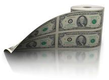 Rullo del dollaro fotografie stock libere da diritti