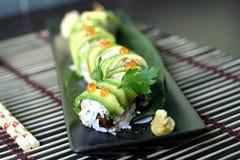 Rullo del drago dei sushi Fotografia Stock