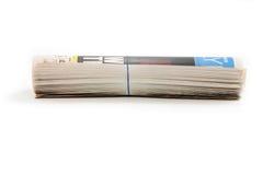 Rullo del giornale Fotografia Stock Libera da Diritti