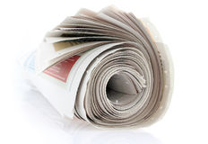 Rullo del giornale immagine stock libera da diritti