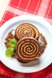 Rullo del pan di Spagna fotografie stock libere da diritti