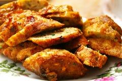 Rullo del pollo fritto Fotografia Stock
