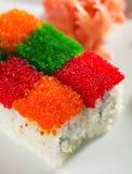 Rullo del Rainbow di Tobiko Immagini Stock Libere da Diritti