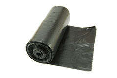 Rullo del sacchetto di immondizia fotografie stock libere da diritti