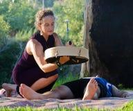 Rullo del tamburo della medicina di Shamanic Fotografia Stock Libera da Diritti
