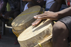 Rullo del tamburo di Garifuna Immagini Stock Libere da Diritti