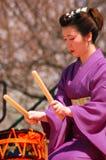 Rullo del tamburo tradizionale giapponese Immagini Stock Libere da Diritti