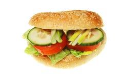 Rullo dell'insalata immagine stock