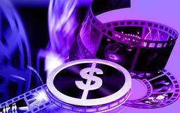 Rullo della pellicola del dollaro Fotografie Stock Libere da Diritti