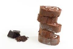 Rullo della vaniglia del cioccolato Fotografie Stock Libere da Diritti