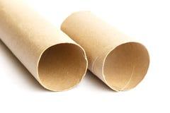 Rullo di carta isolato su bianco Fotografie Stock