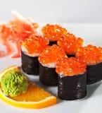 Rullo di color salmone delle uova fotografia stock libera da diritti