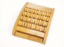 Rullo di legno di massaggio del piede Fotografia Stock Libera da Diritti