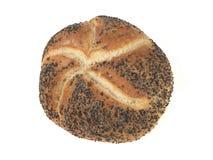 Rullo di pane seminato bianco crostoso Fotografia Stock