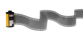 rullo di pellicola negativa classico di 35mm isolato Fotografia Stock Libera da Diritti