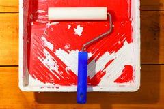 Rullo di pittura Immagine Stock