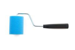 Rullo di pittura blu immagini stock libere da diritti