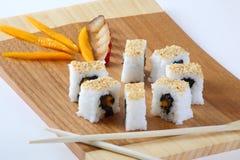Rullo di sushi Immagini Stock
