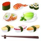 Rullo di sushi illustrazione di stock