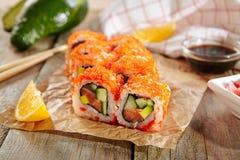 Rullo di sushi California fotografia stock libera da diritti