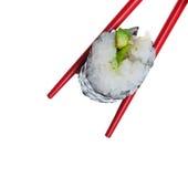 Rullo di sushi dell'avocado immagine stock libera da diritti