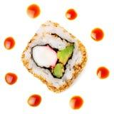 Rullo di sushi della California Fotografia Stock Libera da Diritti