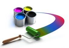 Rullo di vernice illustrazione vettoriale