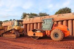 Rullo e bulldozer industriali immagine stock libera da diritti