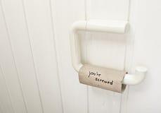 Rullo vuoto della carta igienica Immagini Stock