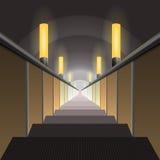 Rulltrappa i tunnelbanan Royaltyfri Fotografi