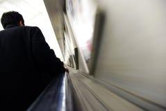 rulltrappatunnelbana Fotografering för Bildbyråer